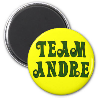 TEAM ANDRE with Tennis Details Tshirts 2 Inch Round Magnet