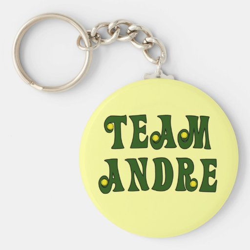 TEAM ANDRE with Tennis Details Tshirts Keychain