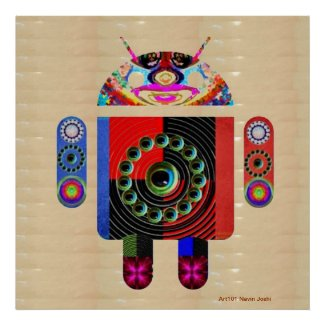 Team ANDROID - Zazzlelist Art101 Collection Print