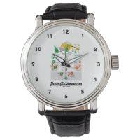 Team Angiosperm Alternation Of Generations Flower Wristwatches