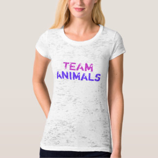 TEAM , animals purple T-Shirt