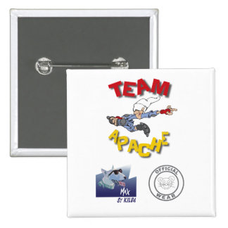 Team Apache Badge Pinback Button