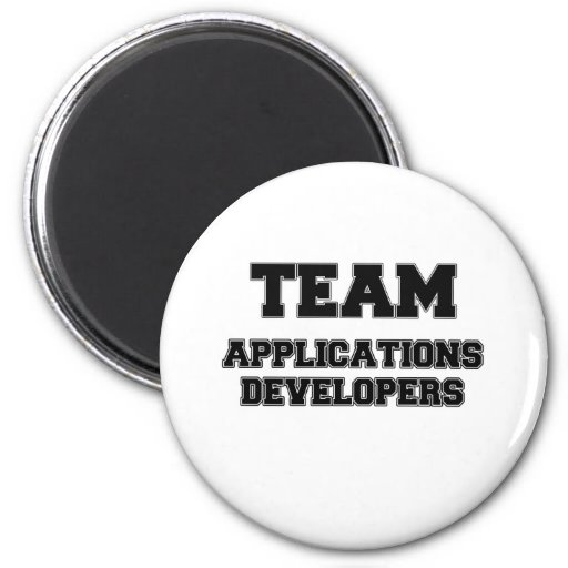 Team Applications Developers 2 Inch Round Magnet