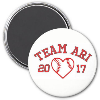 Team Ari baseball heart magnet