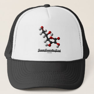 Team Ascorbic Acid (Chemical Molecule Vitamin C) Trucker Hat