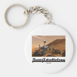 Team Astrobiology (Curiosity Mars Rover Landscape) Basic Round Button Keychain