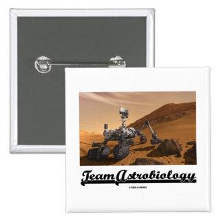 Team Astrobiology Curiosity Mars Rover Landscape Pin