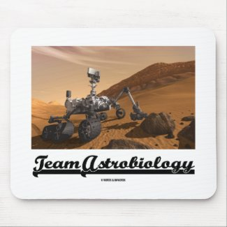 Team Astrobiology (Curiosity Mars Rover Landscape) Mouse Pads