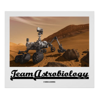 Team Astrobiology Curiosity Mars Rover Landscape Posters
