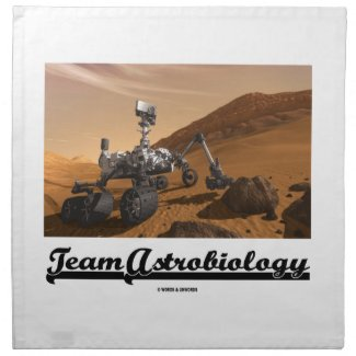 Team Astrobiology (Curiosity Rover Mars Explore) Napkin