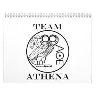 Team Athena (Engravers Font) Calendar