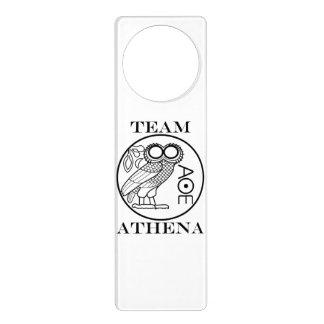 Team Athena (Engravers Font) Door Knob Hanger