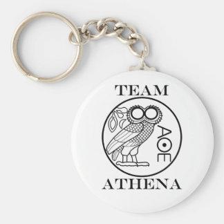 Team Athena (Engravers Font) Keychain