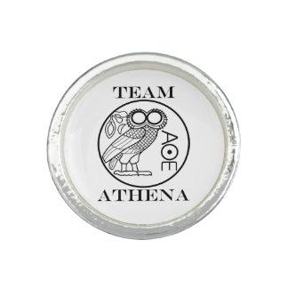 Team Athena (Engravers Font) Photo Rings
