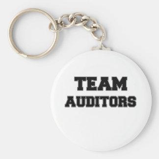 Team Auditors Basic Round Button Keychain