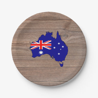 Wood Map Plates Zazzle - Us map paper plates
