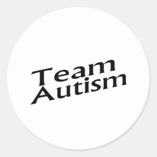 Team Autism Classic Round Sticker