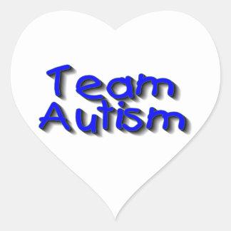 Team Autism Heart Sticker