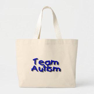 Team Autism Large Tote Bag