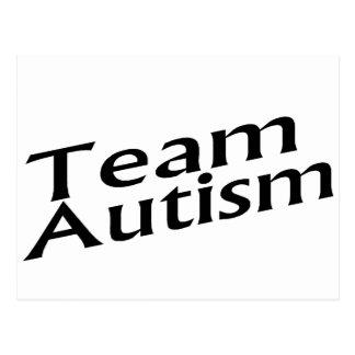 Team Autism Postcard