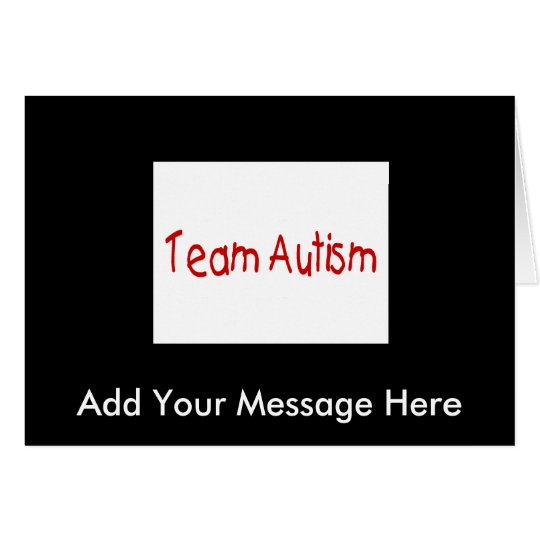 Team Autism (Red) - Customized Card