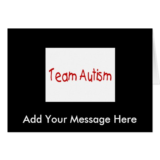 Team Autism (Red) - Customized Cards