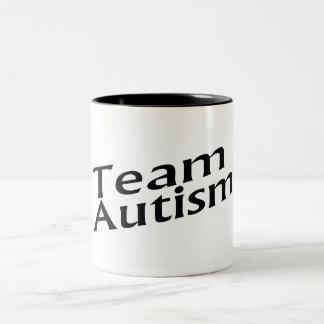 Team Autism Two-Tone Coffee Mug