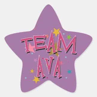 TEAM AVA Customizable Star Sticker