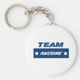 Team Awesome! Basic Round Button Keychain