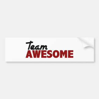 Team Awesome Bumper Sticker