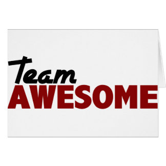 Team Awesome Card