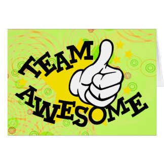 Team Awesome Card for Kids