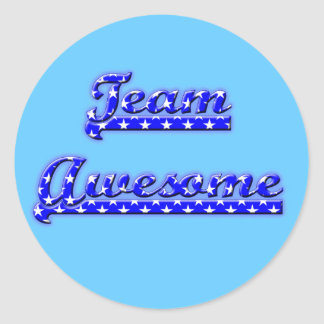 Team Awesome Classic Round Sticker