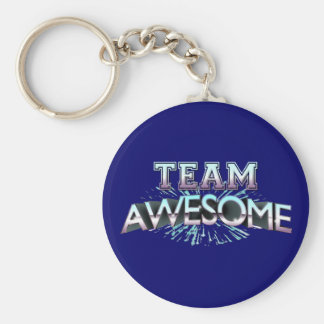 Team Awesome Basic Round Button Keychain