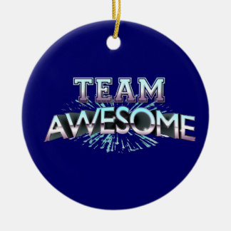 Team Awesome Christmas Ornaments