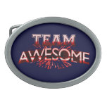 Team Awesome Oval Belt Buckle