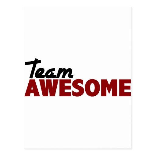 Amazing Team: Team Awesome Postcard