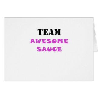 Team Awesome Sauce Card