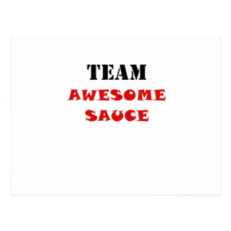 Team Awesome Sauce Postcard