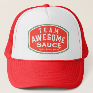 Team Awesome Sauce Trucker Hat 74dc916c23f