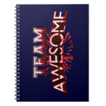 Team Awesome Spiral Note Books