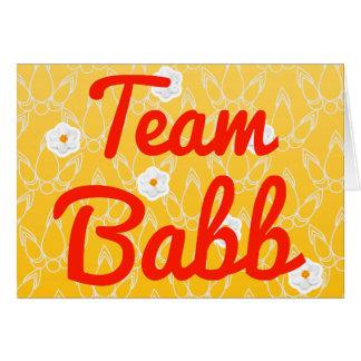 Team Babb Cards