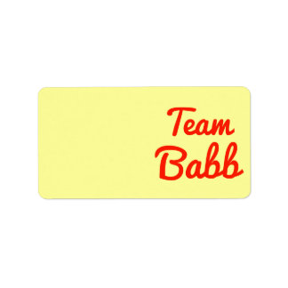 Team Babb Address Label