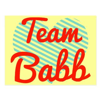 Team Babb Postcard