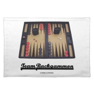Team Backgammon (Backgammon Board) Cloth Placemat