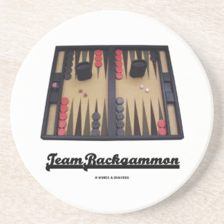 Team Backgammon (Backgammon Board) Drink Coaster