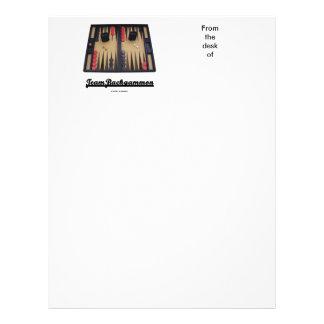 Team Backgammon (Backgammon Board) Letterhead
