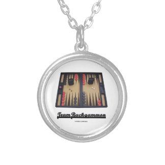 Team Backgammon (Backgammon Board) Round Pendant Necklace