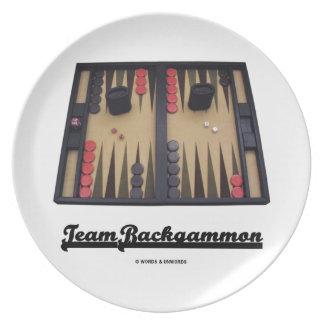 Team Backgammon (Backgammon Board) Party Plates