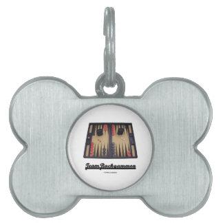 Team Backgammon (Backgammon Board) Pet Tags